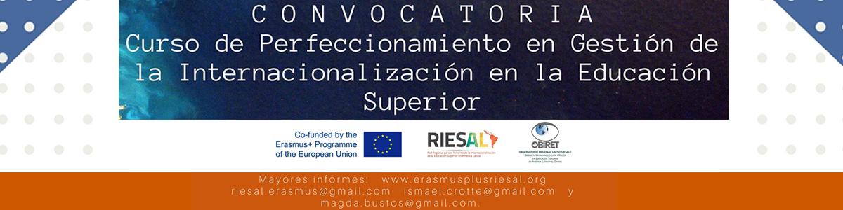 Convocatoria Curso de Perfeccionamiento en Gestión de la Internacionalización en la Educación Superior